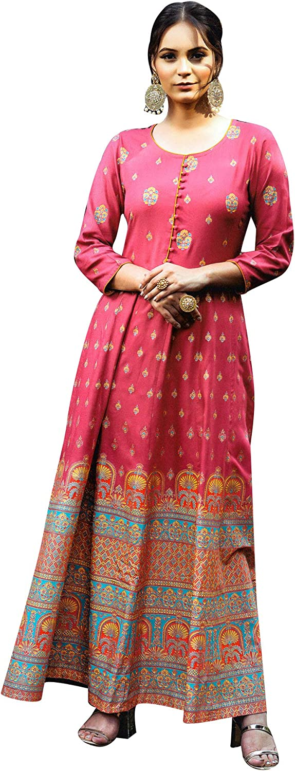 ladyline Anarkali Rayon Printed Floor for Kurti A surprise price is excellence realized Length Kur Women