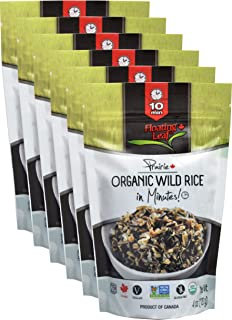 Floating Leaf Fine Foods - Organic Wild Rice in Minutes - Case of 6 x 4 ounces - Plant based, Non GMO and Gluten Free