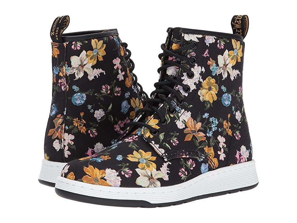 Dr. Martens Darcy Floral Newton 8-Eye Boot (Black Darcy Floral Fine Canvas) Women