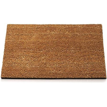 fibre de Coco avec base antid/érapant en PVC 40x60x1.5 cm Tapis antiderapant et absorbant KOKO DOORMATS tapis entree exterieur paillasson exterieur Paillasson original mod/èle Chien Bienvenue