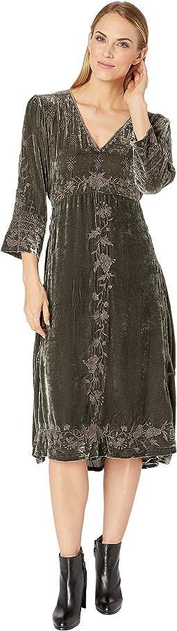 Shalea Long Velvet Dress