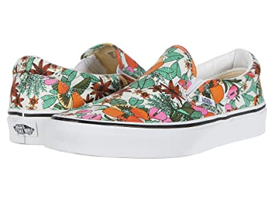 Vans Classic Slip-Ontm ((Multi Tropic) Bit of Blue/True White) Skate Shoes