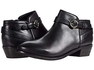 SoftWalk Raven (Black Leather/Lizard) Women