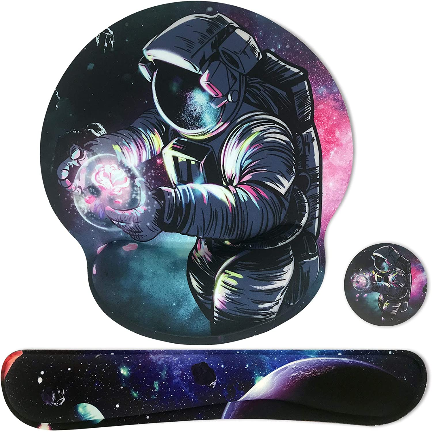 Sosolong Space Mouse pad Omaha Mall for Boys Gaming pa Astronaut and NEW before selling ☆