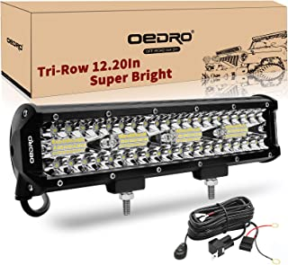 LED Light Bar OEDRO 12Inch 360W 25200LM Tri-Rows Spot Flood Combo Led Lights Work Lights+Wiring Harness IP68 Grade Off Road Light 12V 24V Fit for Pickup Jeep SUV 4WD 4X4 ATV UTE Truck Tractor etc