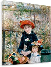 Niwo Art - Two Sisters, World's Most Famous Paintings Series, Canvas Wall Art Home Decor, Gallery Wrapped, Stretched, Framed Ready to Hang (16