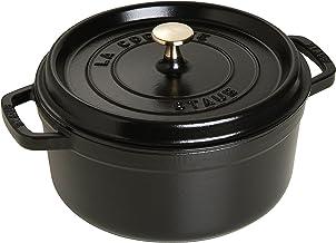 Staub 1102025 Cast Iron Round Cocotte, 20cm, Black