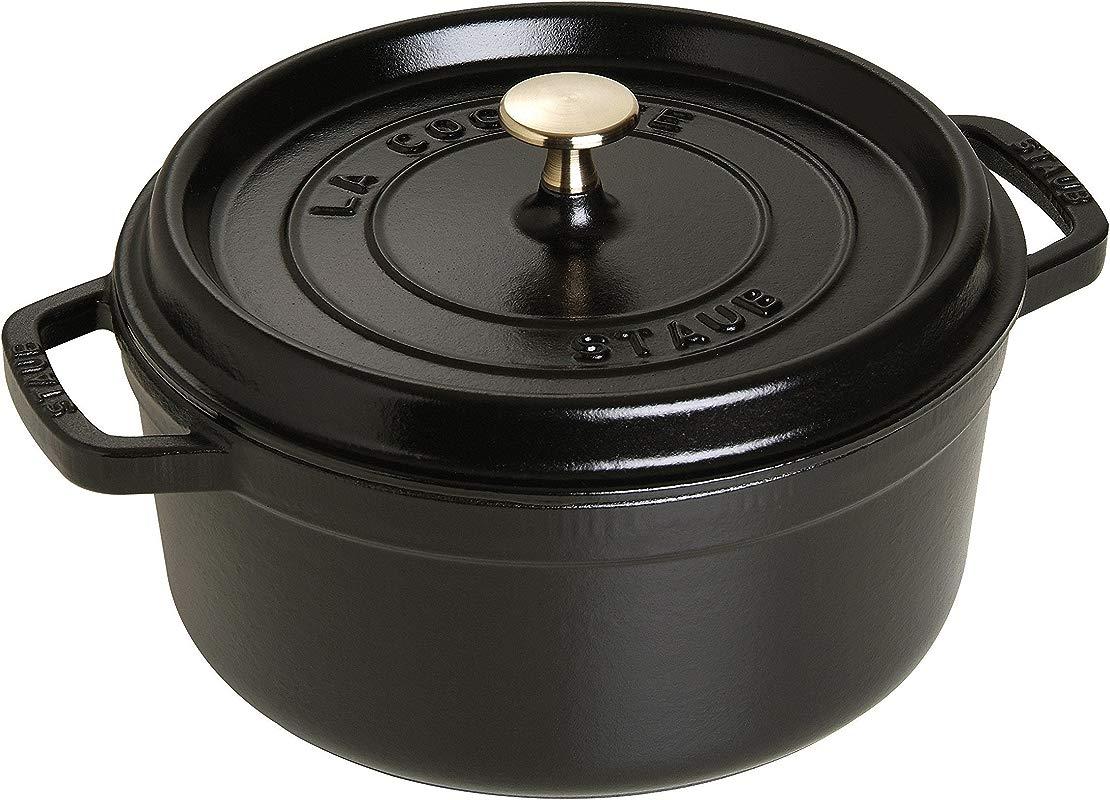 Staub USA Black 2 75 Qt Round Cocotte