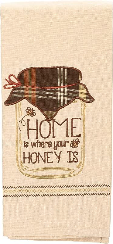 Park Designs Home Is Where Applique Dishtowel Kitchen Linen