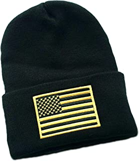 8246320b568 Waldeal Embroidered Subdued Us Flag Tactical Toddler Cap Beanie for Kids  3-8 Year Old