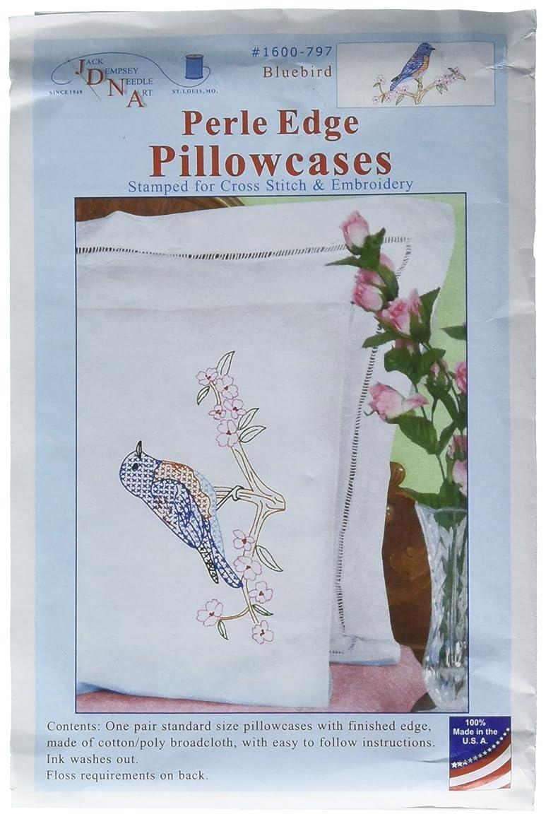 Jack Dempsey Bluebird Perle Edge Pillowcases, 20