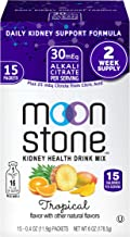Moonstone Nutrition | Hydration Powder Packets and Supplement for Kidney Support, Function and Protection | 15 Pack, Tropical