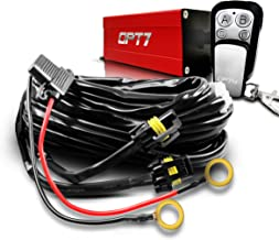 OPT7 LED Light Bar Wiring Harness with Wireless Remote Switch - 14 Gauge 380W 2-Way - 9ft Dimmer Strobe Waterproof Relay Splitter