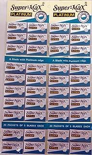 Super-max Razor Platinum Blades 20 Tucks of 5 Blades Each