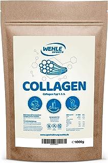 Kollagen pulver 1 kg – Kollagen hydrolysat peptid – protevitpulver smakneutral – Wehle Sports – Tillverkad i Tyskland Koll...