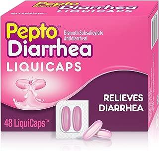 Pepto Bismol Diarrhea LiquiCaps, 48 Count, Anti Diarrhea Medicine for Fast Diarrhea Relief, Antidiarrheal Liquid Pills