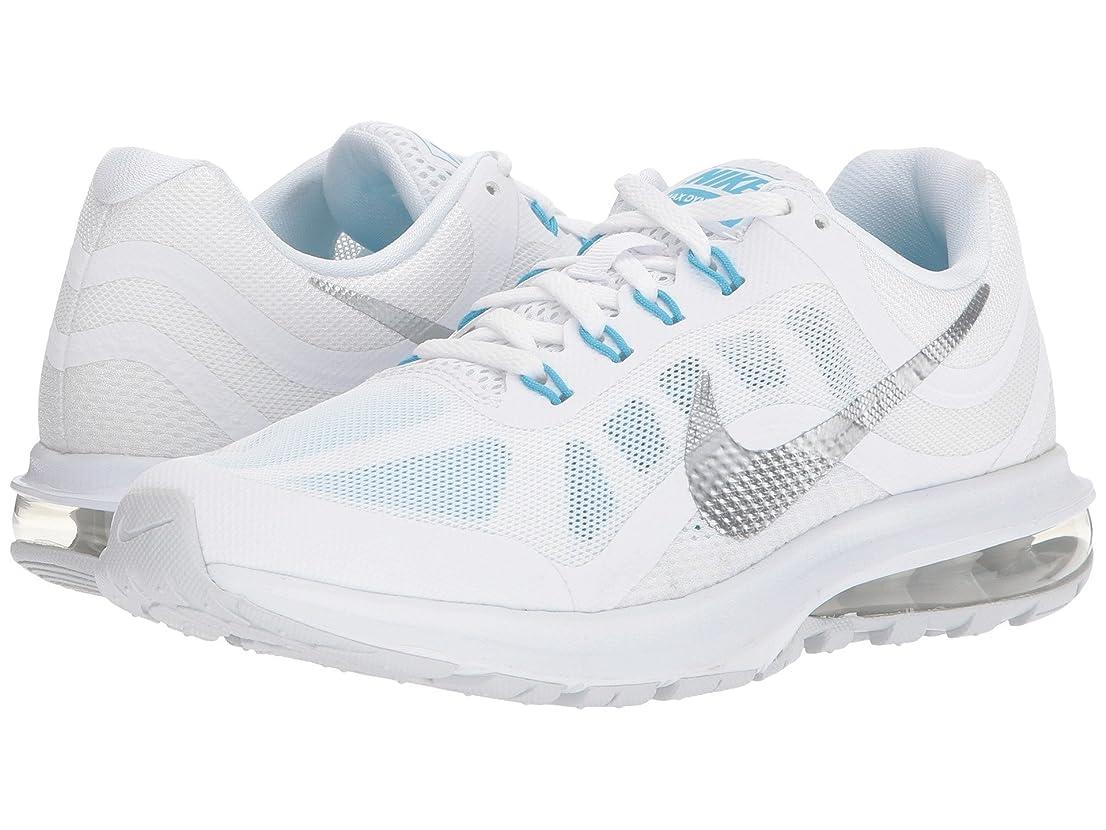 ブロー去るアヒル(ナイキ) NIKE レディースランニングシューズ?スニーカー?靴 Air Max Dynasty 2 White/Chrome/Pure Platinum/Blue Fury 5 (22cm) B - Medium