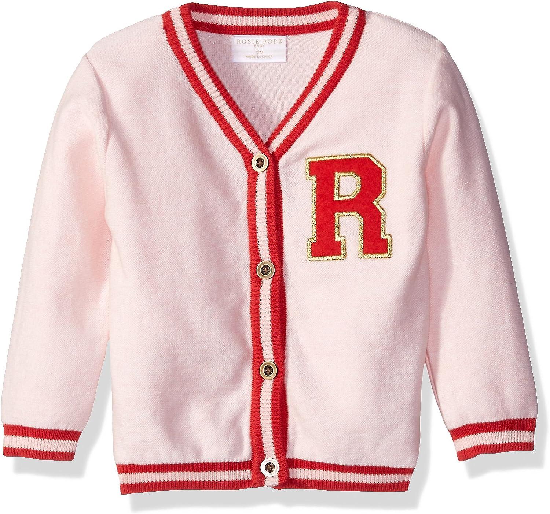 Rosie Pope Baby Girls Heathered Band Cardigan