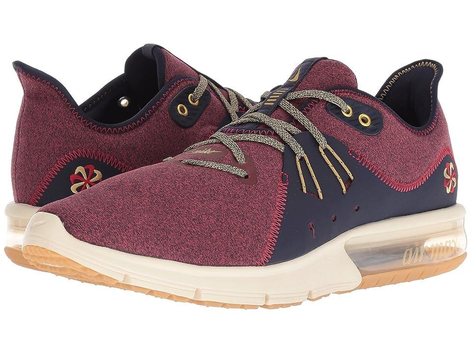 Nike Air Max Sequent 3 Premium (Red Crush/Wheat Gold/Blackened Blue) Men