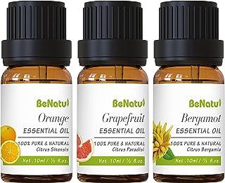 Essential Oils Set (Sweet Orange, Grapefruit, Bergamot) for Soap Making, Body Massage, Aromatherapy - Pure Citrus Scent Di...
