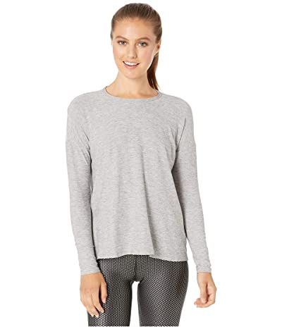 Beyond Yoga Draw The Line Tie Back Pullover (Silver Mist) Women