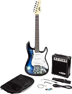 Jaxville ST1-RPA-PK Reaper St Style Electric Guitar Pack with Guitar Amplifier Guitar Bag Guitar Strings Guitar Strap Guit...
