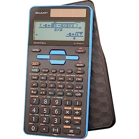 "Sharp Calculators EL-W535TGBBL 16-Digit Scientific Calculator with WriteView, 4 Line Display, Battery and Solar Hybrid Powered LCD Display, Black & Blue, Black, Blue, 6.4"" x 3.1"" x 0.6"" x 6.4"""