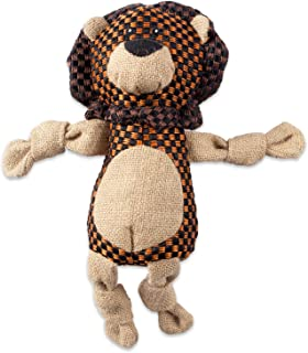 Bone Dry DII Burlap Body Jungle Friends Squeaking Pet Toy, Plush Toy for Small, Medium and Large Dog