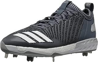 adidas Men's Freak X Carbon Mid Baseball Shoe, Onix/White/Metallic Silver, 9.5 Medium US