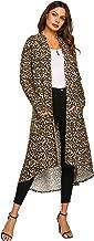POGTMM Women's Casual Long Open Front Drape Lightweight Duster High Low Hem Maxi Long Sleeve Cardigan(S-3XL)