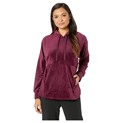 Donna Karan Hooded Top (Black Currant) Women