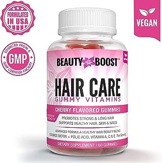BeautyBoostMD Hair Care Gummy Vitamins – Advanced Formula Healthy Hair Beauty Blend for Hair Growth & Hair Strength, Maximum Strength (60 Count, 1-Month Supply)