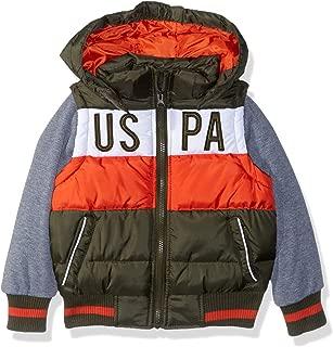 U.S. Polo Assn. 男童泡泡背心夹克羊毛袖
