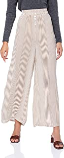 Girl & the Sun Women's Essential Wave Pants, Brown/White Stripe