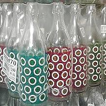 Bottiglia vetro cerve lory daisy acqua da 1 litro (100cl) elegante con tappo meccanico ermetico per acqua olio bevande con...