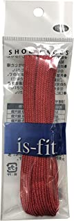 is-fit シューレース メタリック  レッドRI-2 120cm