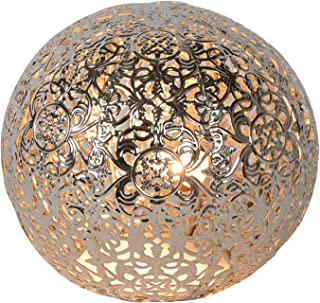 Lucide 46501/01/14 Paolo Lampe de Table, Métal, G9, 28 W, Argenté, 14,5 x 14,5 x 13 cm
