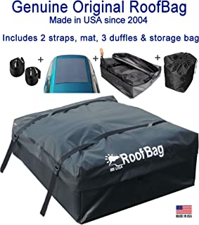 RoofBag Rooftop Cargo Carrier Bag |Made in USA |15 cu ft |Waterproof-Premium Triple Seal..