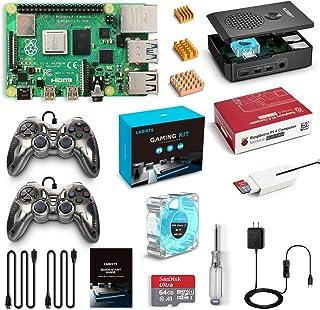 LABISTS Raspberry Pi 4 B Model Gaming Kit with 2 USB Gamepads, 64G SD Card