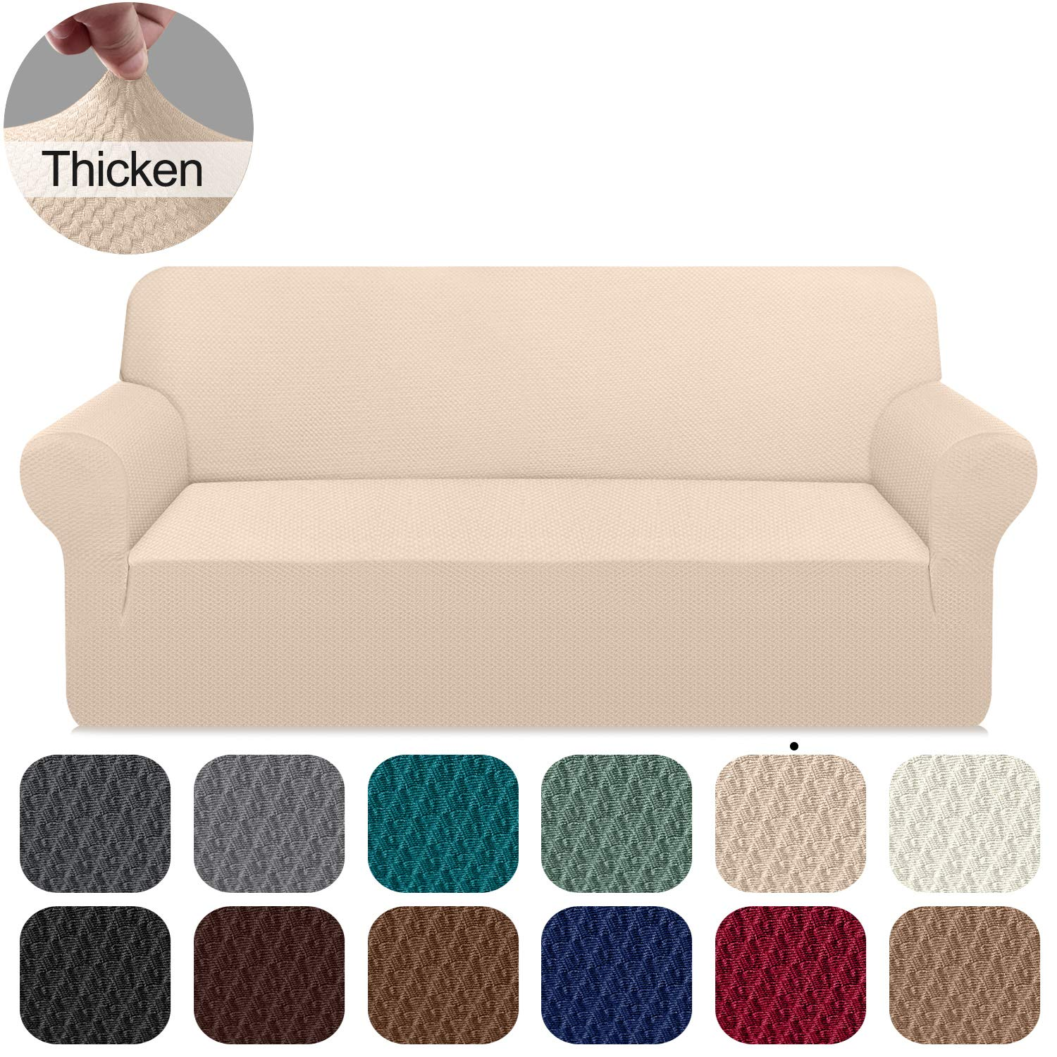 Sofa Cover Stretchable All Wrap Couch Slipcover Elastic Band Settee Protector