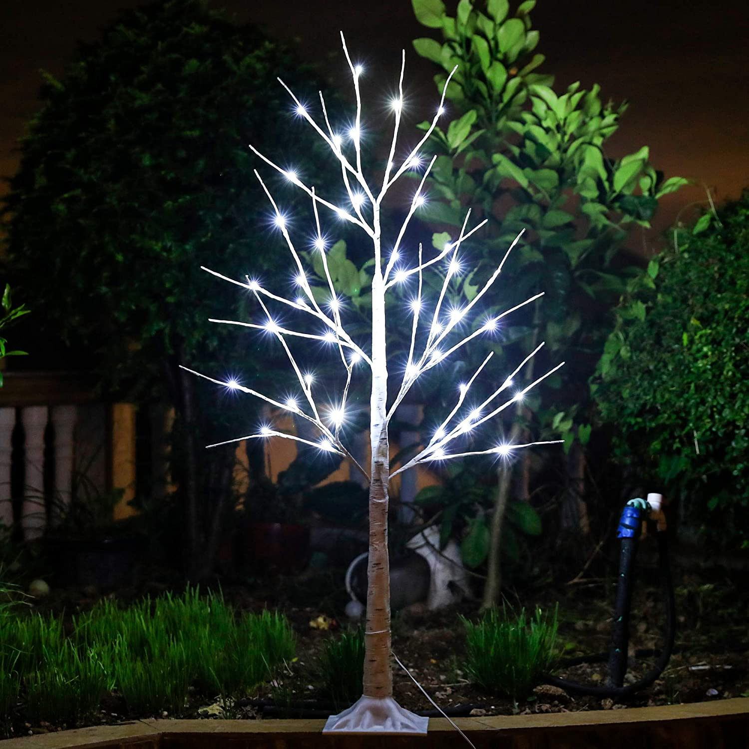 Leruckdite LED Birch Tree 4ft Christmas 100% quality warranty Ligh 48L Decorations Today's only