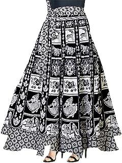 5ad8aebc7 jwf Women's Cotton Wrap Around Western Wear Skirt (SK_5713, Multicolour,  Free Size)