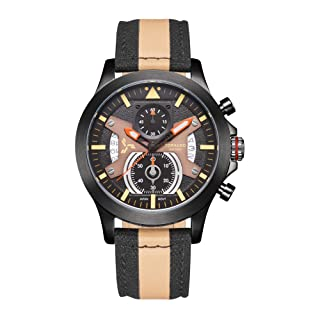 TORNADO Men's Chronograph Multi Color Dial Watch - T20101-XNFB