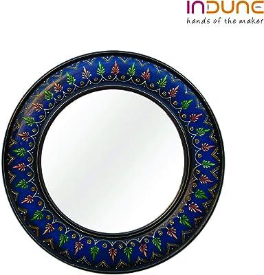 Indune's Painted Round Mirror Frame - Wooden