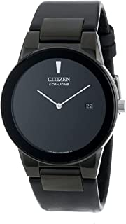 Citizen Men's Eco-Drive Axiom Watch with Black Leather Band, AU1065-07E