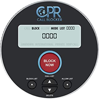 CPR V10000 Call Blocker for Landline Phones. Dual Mode Protection. Pre-Loaded with 10, 000 Known Robocall Scam Numbers - Block A Further 2, 000 Numbers at A Touch of A Button