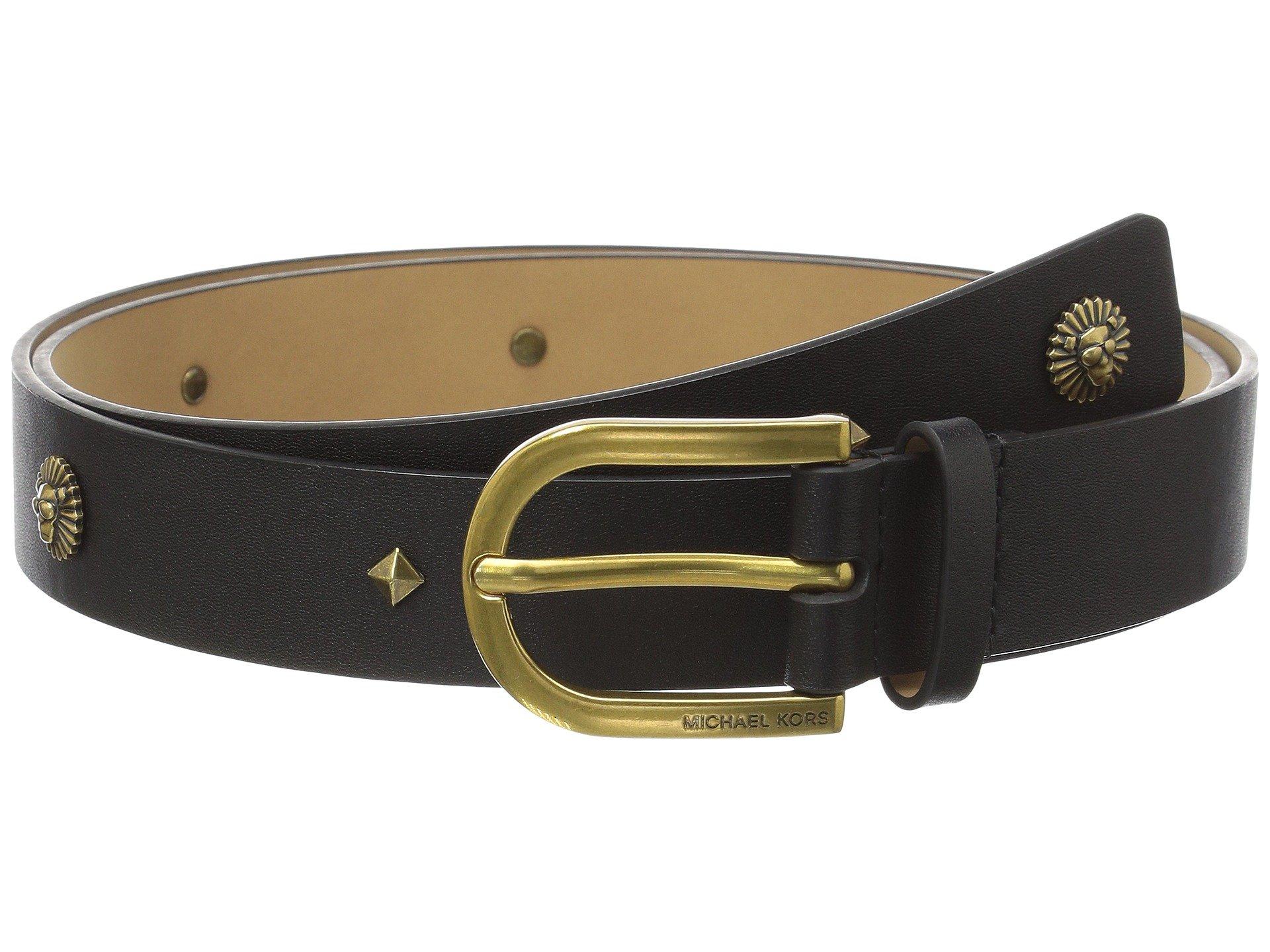 Correa o Cinturon para Mujer MICHAEL Michael Kors 30mm Lion Stud Belt  + Michael Kors en VeoyCompro.net