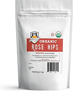 Fermentaholics USDA Certified Organic Dried Rose Hips - Perfect For Kombucha Brewing