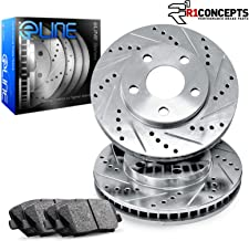 For 2005-2010 Honda Odyssey Front Drill/Slot Brake Rotors+Ceramic Brake Pads