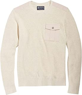 Mens Contrasting Knit Pullover Sweater